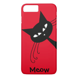 Quirky Funny Black Cat Feline iPhone 8 Plus/7 Plus Case