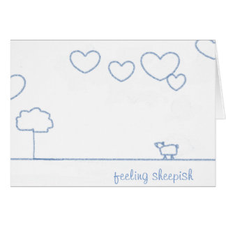 quirky heart cloud greeting card