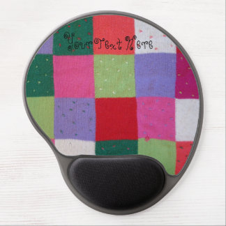 quirky knitted patchwork colourful traditional gel mouse pad