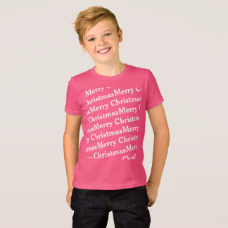 quirky Merry Christmas in slant pattern T-Shirt