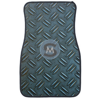 Quirky Monogrammed Metal Chequer floor plate Car Carpet