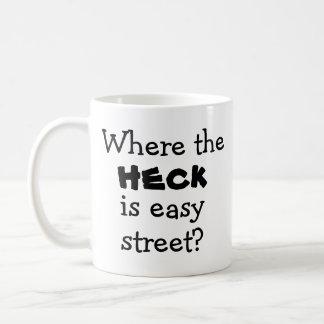 Quirky novelty joke saying fun white elephant gift coffee mug