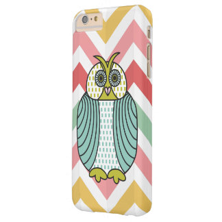 Quirky Owl Colorful Modern Chevron Pattern Barely There iPhone 6 Plus Case