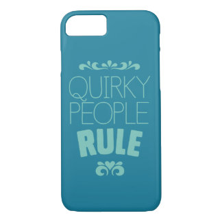 Quirky People Rule Turquoise iPhone 8/7 Case