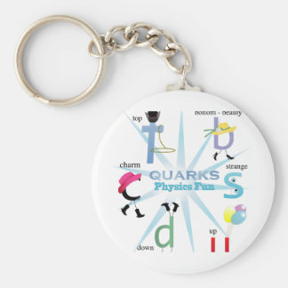 Quirky Quarks Physics Fun Keychain