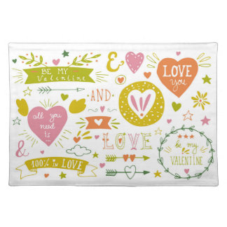 Quirky Romantic Placemat