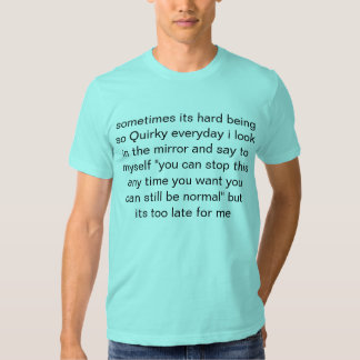 quirky tee shirt
