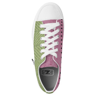 Quirky Watermelon Seed Low-Top Sneakers