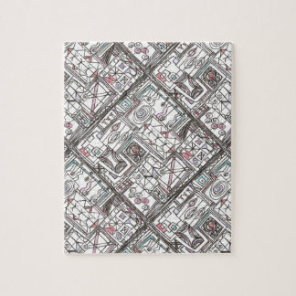 Quirky-Whimsical Abstract Geometric Doodle Jigsaw Puzzle