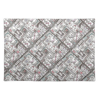 Quirky-Whimsical Abstract Geometric Doodle Placemat