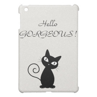Quirky Whimsical Black Cat Glittery-Hello Gorgeous Case For The iPad Mini