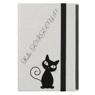 Quirky Whimsical Black Cat Glittery-Hello Gorgeous iPad Mini Case