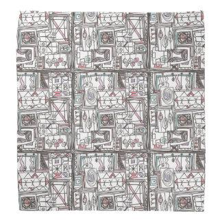Quirky-Whimsical Geometric Doodle Bandana