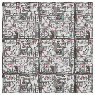 Quirky-Whimsical Geometric Doodle Fabric