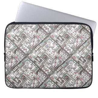 Quirky-Whimsical Geometric Doodle Laptop Sleeve