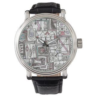Quirky-Whimsical Geometric Doodle Watch
