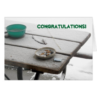 Quit Smoking Congratulations Card