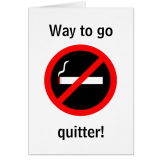 Quit Smoking Congratulations Card