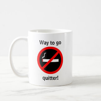 Quit smoking congratulations coffee mug