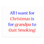 Quit Smoking Grandpa Post Card