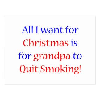 Quit Smoking Grandpa Postcard