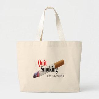 QUIT SMOKING LARGE TOTE BAG
