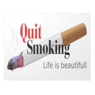 QUIT SMOKING NOTEPADS
