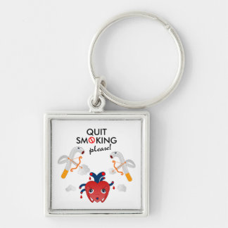Quit smoking please keychain