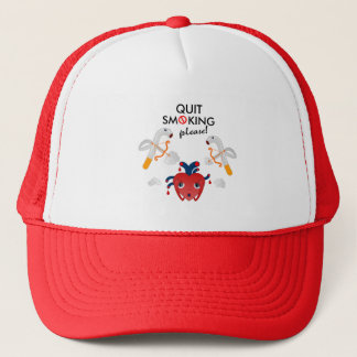 Quit smoking please trucker hat