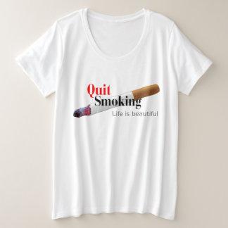 Quit Smoking Plus Size T-Shirt