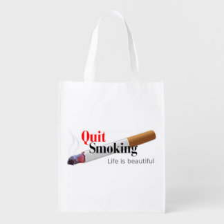 Quit Smoking Reusable Grocery Bag