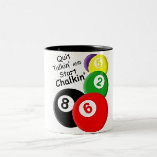 Quit Talkin' Start Chalkin' Two-Tone Coffee Mug