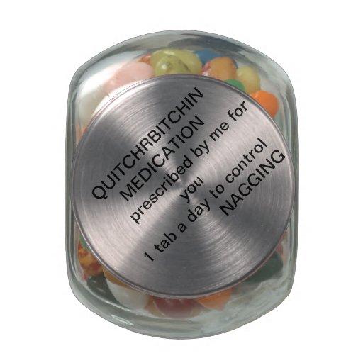 QUITCHRBITCHIN MEDICATION GLASS JARS