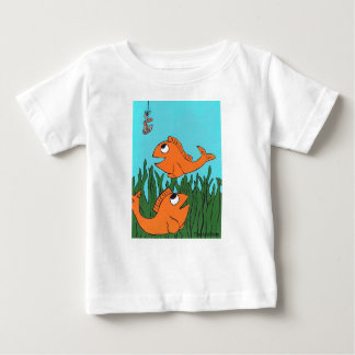 Quite a Catch Fih shirt, Hand Drawn and painted Baby T-Shirt