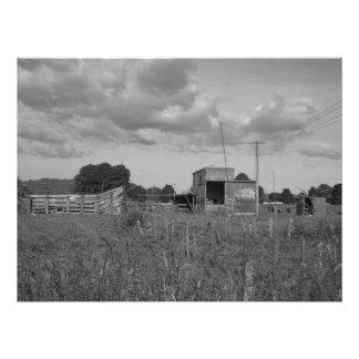 quite farm long round down photo print