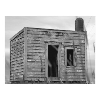 quite old shack photo print