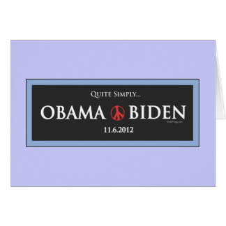 Quite Simply Obama Biden 2012 Greeting Cards