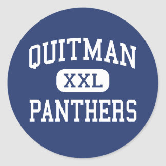 Quitman - Panthers - High - Quitman Mississippi Classic Round Sticker