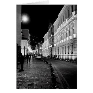 Quito at Night Blank Notecard