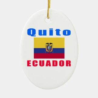 Quito Ecuador capital designs Ceramic Ornament