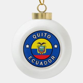 Quito Ecuador Ceramic Ball Christmas Ornament