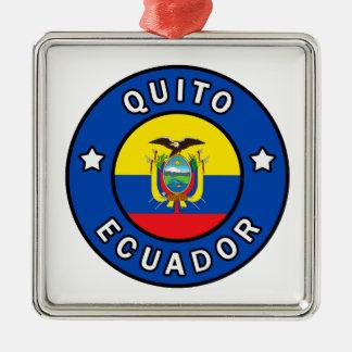 Quito Ecuador Metal Ornament