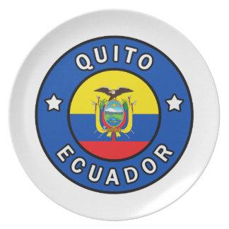 Quito Ecuador Plate