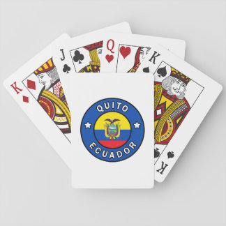 Quito Ecuador Playing Cards