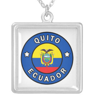Quito Ecuador Silver Plated Necklace