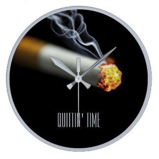 QUITTIN' TIME:  Stop Smoking Reminder Large Clock
