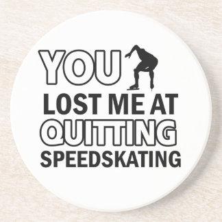 Quitting Speedskating Beverage Coaster
