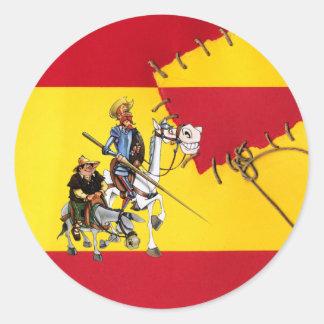 @QUIXOTEdotTV Round Sticker