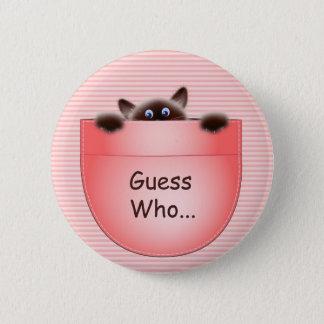 Quiz: Cat 2 Inch Round Button