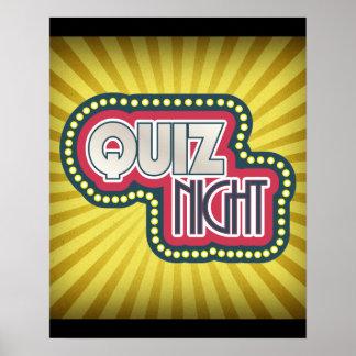 Quiz Night Trivia Party Poster